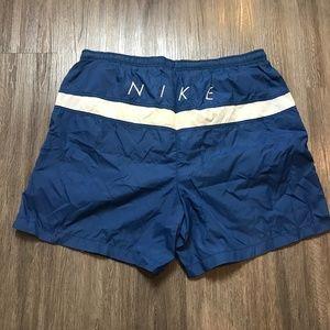 Vintage Nike Spell Out Swim Trunks Mesh Liner